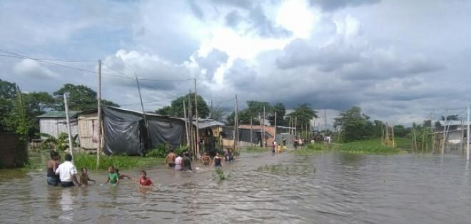 Milagro ha sido uno de los cantones más afectados por inundaciones por las recientes lluvias. Foto: Ecuavisa