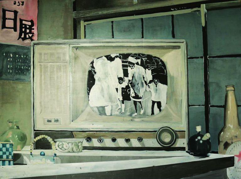 """Karla, Otis III y Dexter Redding"", obra de Jorge Morocho, quien gana por segunda vez el prestigioso primer premio."