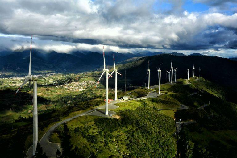 Parque eólico Villonaco. Foto: Cortesía