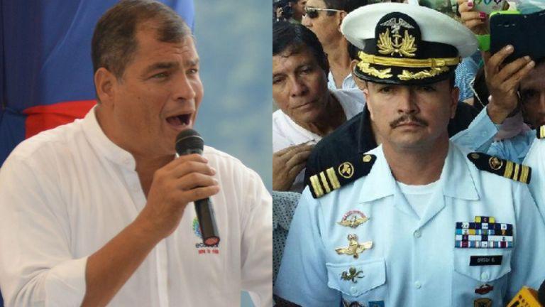 ECUADOR.- El Consejo dejó libre de sanción al capitán Ortega por insubordinación al presidente. Foto: Ecuavisa