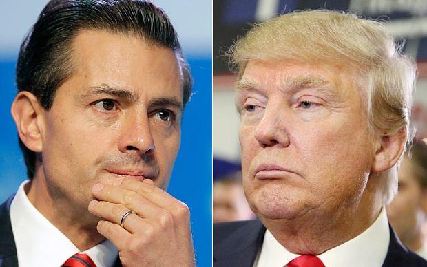 El candidato republicano Donald Trump , y el presidente de México, Enrique Peña Nieto. Foto: Internet.