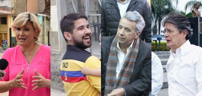 Moreno y Lasso, defendieron su posición en las encuestas y formalizaron alianzas, respectivamente.   Foto: Ecuavisa