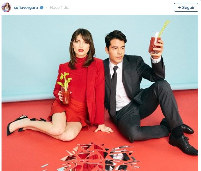 Sofía Vergara mostró la sesión fotográfica de su hijo en redes sociales. Foto: Tomada del Instagram de la actriz.
