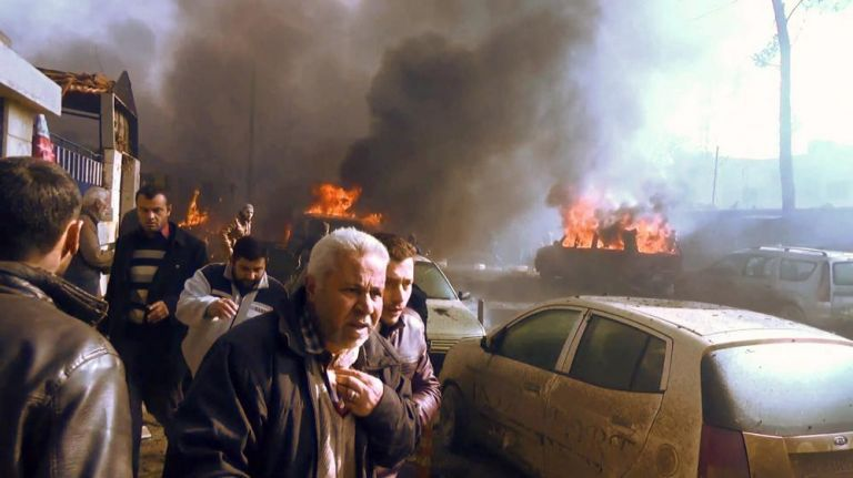 Entre las víctimas figuran seis rebeldes, informó el Observatorio Sirio de Derechos Humanos. Foto: AFP