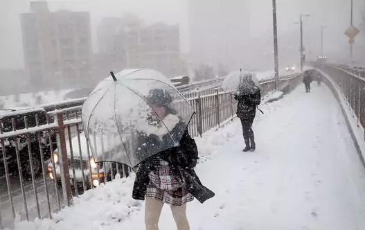 Nueva York Pasó Del Clima Cálido A La Nieve En Un Día Vistazo