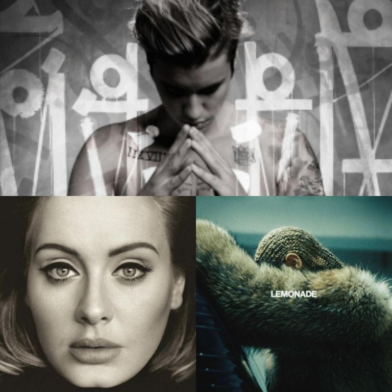 Justin Bieber, Adele y Beyonce está nominados a Álbum del año.