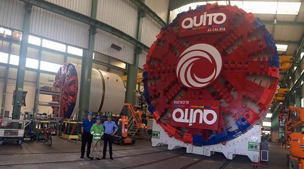 La excavación del túnel del metro de Quito durará aproximadamente 21 meses.  Foto: Internet