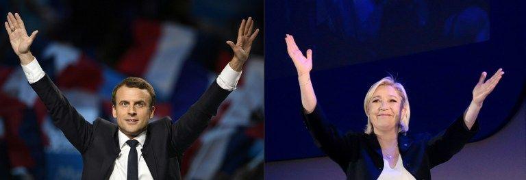 Macron y Le Pen se medirán en la segunda vuelta presidencial de Francia el 7 de mayo próximo. Foto: AFP