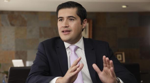 Richard Martínez, presidente del Comité Empresarial Ecuatoriano. | Foto: tomada del Twitter del CEE.