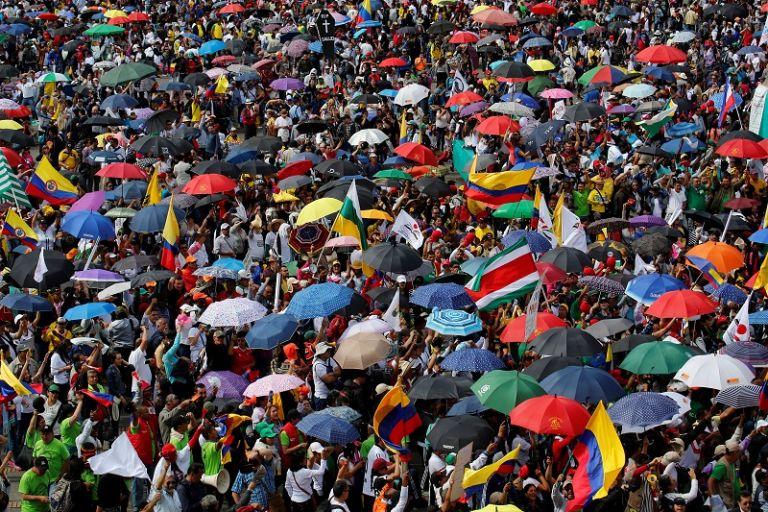 El presidente colombiano, Juan Manuel Santos, ya anunció que el Gobierno no tiene recursos para ofrecer más a los profesores.   Fotos: Reuters.