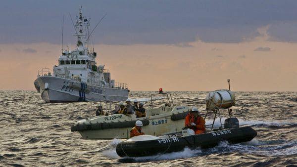 Los guardacostas navegaron por primera vez en torno a la Islas Senkaku, administradas por Tokyo pero que Beijing reclama. Foto: @TaiwanNews886