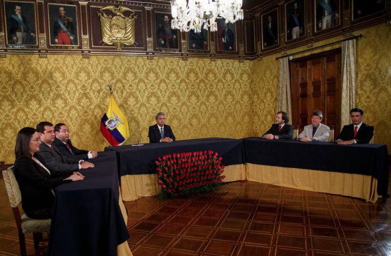 El Presidente Moreno aseguró hoy que presentó las cifras económicas reales del país y que estos datos veraces siempre estarán al alcance de los ciudadanos. Foto: Presidencia