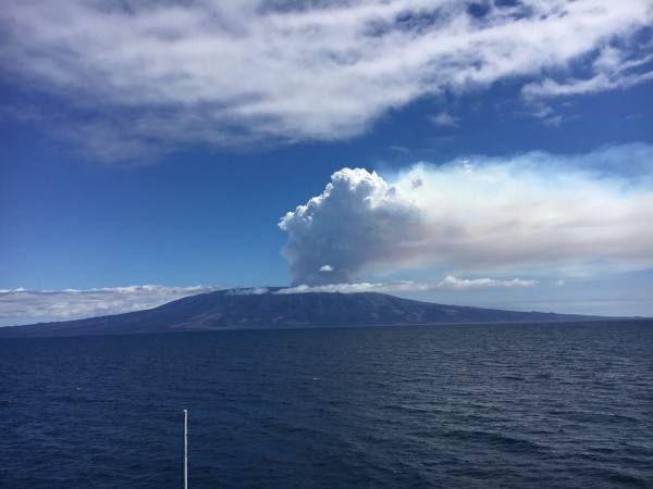 El volcán La Cumbre, está localizado en la isla Fernandina, que se encuentra deshabitado. Foto: Sócrates Tomalá