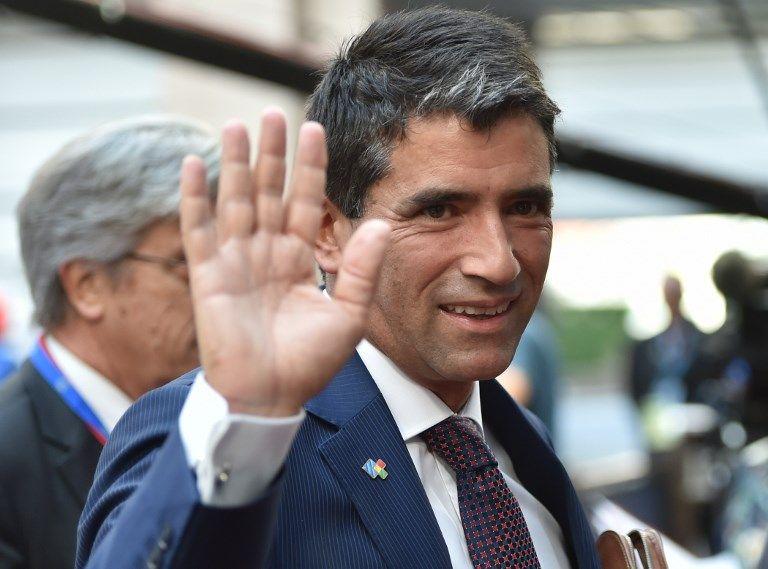 """""""Presenté ante el Plenario del Frente Amplio (partido de gobierno), mi renuncia indeclinable a la Vicepresidencia"""", anunció Sendic. Foto: AFP"""