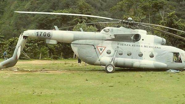"""El gobernador de Chiapas, Manuel Velasco, anunció en su cuenta de Twitter la caída de """"un helicóptero Mi-17 de la Fuerza Aérea que iba rumbo a Jaltenango"""". Foto: Telesur"""