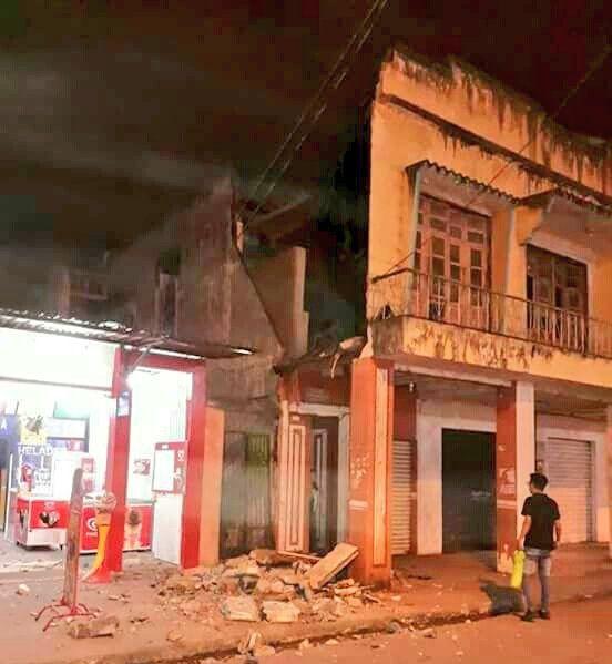 Se reportan daños en el cantón pasaje tras el sismo de 5.9 registrado en Balao. Foto: Twitter
