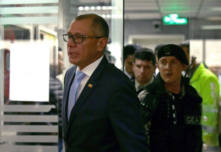 Glas fue acusado de beneficiarse de $13,5 millones en sobornos pagados por Odebrecht para la adjudicación de cinco contratos. Foto: AFP