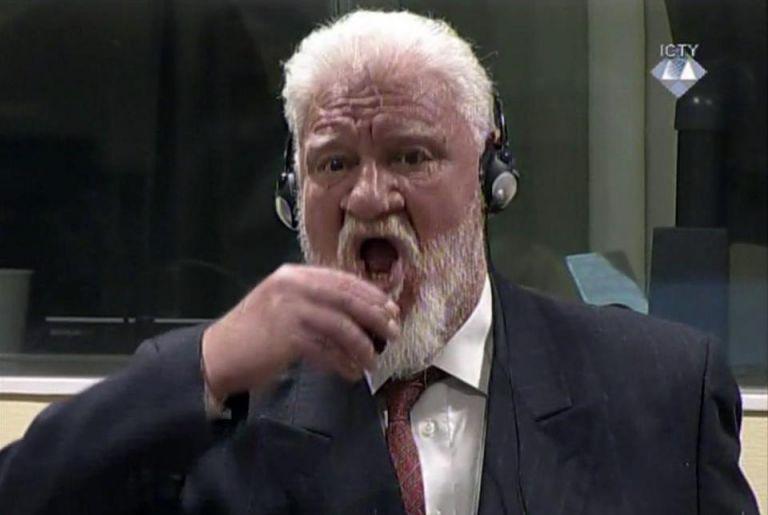 El tribunal abrió una investigación interna sobre la muerte de Slobodan Praljak, que se suicidó el 29 de noviembre ingiriendo cianuro en plena sala de audiencia. Foto: Internet