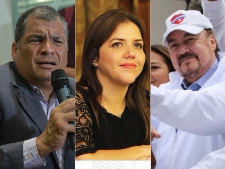 Correa, Vicuña y Larrea lideran las actividades proselitistas. Foto: Collage.