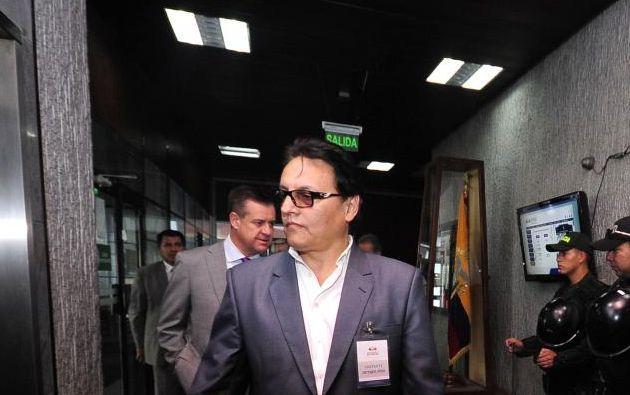 Villavicencio explicó que en el acto urgente que presentó a Moreno el lunes 15 de enero, junto al exasambleísta Andrés Páez, anexó más de 400 fojas con el informe de Contraloría. Foto: archivo