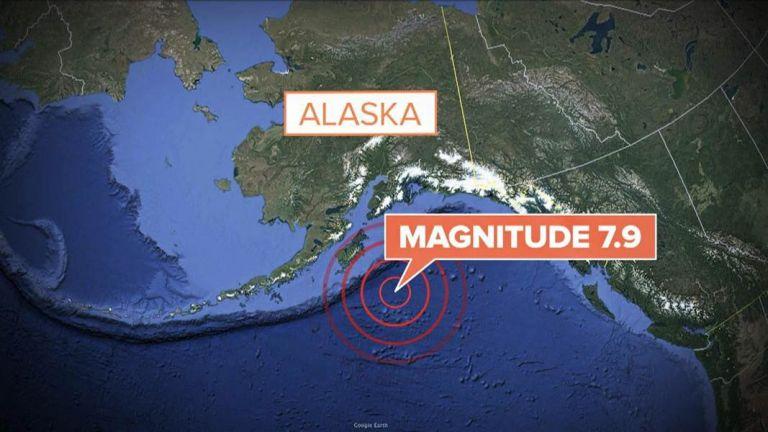 El USGS, que situó primero la magnitud del sismo en 8,2 grados, revisó posteriormente la cifra a 7,9 grados. Foto: Twitter
