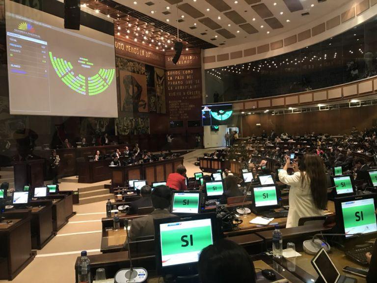 Los funcionarios deberán explicar los detalles de la conversación que sostuvo Serrano y el excontralor general, Carlos Pólit. Foto: Asamblea