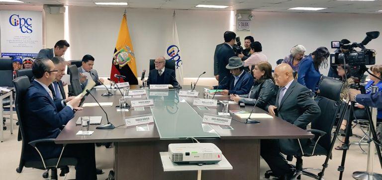 """""""Se acabaron esos concursos mañosos en los que no confía nadie"""", dijo Trujillo. Foto: CPCCS-T"""