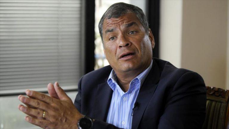 """""""Muy probablemente me saquen prisión preventiva"""", comentó Correa. Foto: archivo AFP"""