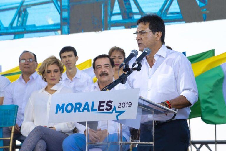 """""""Dos años cuatro meses voy a cumplir que me separé y quedé como independiente"""", recalcó Morales. Foto: Twitter @CLMoralesB"""
