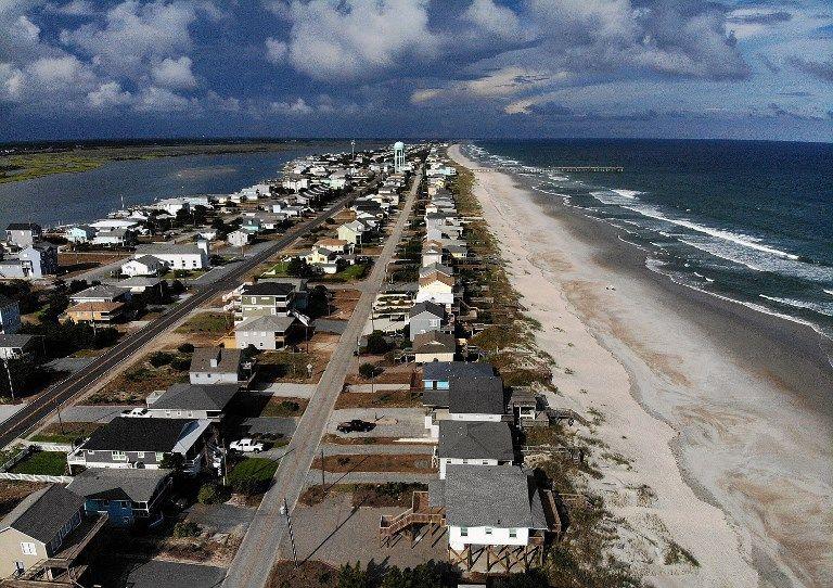El huracán Florence se espera el viernes posiblemente como una tormenta de categoría 4 a lo largo de la costa de Virginia, Carolina del Norte y Carolina del Sur. Foto: AFP