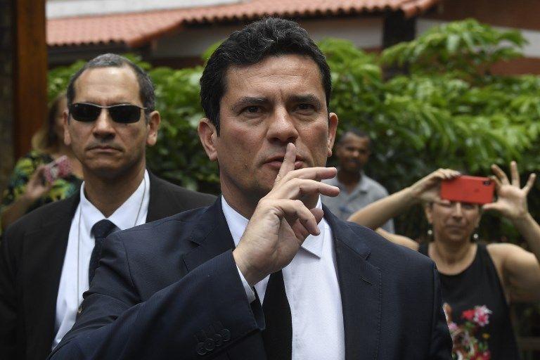 Moro es el quinto ministro designado del futuro gabinete de Bolsonaro. Foto: AFP