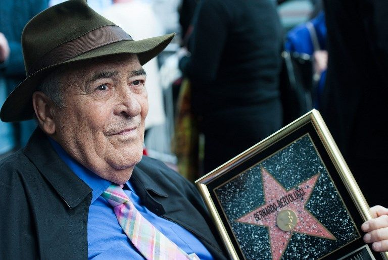 Bertolucci, considerado un maestro del cine italiano y mundial, ganó nueve premios Óscar en 1988. Foto: AFP