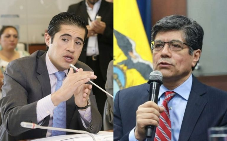 Ministros de Economía y Finanzas, Richard Martínez, y de Exteriores, José Valencia. Foto: Collage Vistazo
