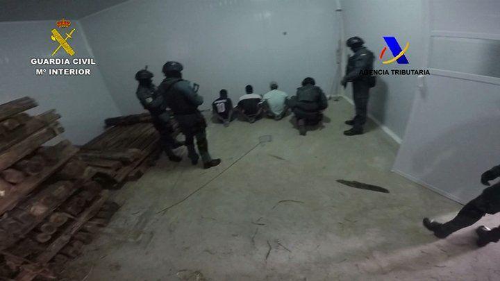 Siete de los sospechosos, incluido el líder de la organización, fueron detenidos. | Foto: Guardia Civil de España.
