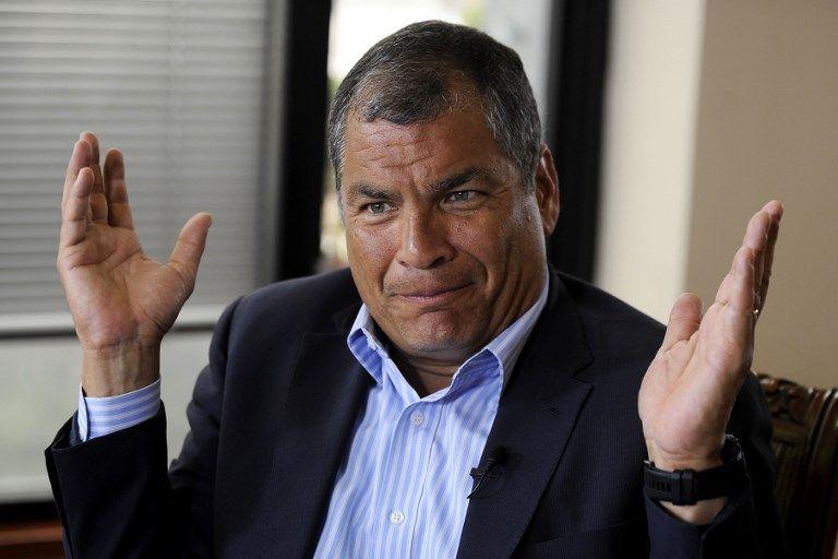 """""""La Vicepresidencia de la República reducida a premio de kermesse"""", dijo Correa. Foto: AFP"""