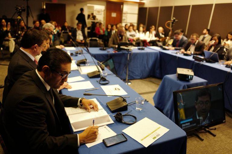 Audiencia de la Comisión Interamericana de Derechos Humanos. Foto: Twitter @CIDH