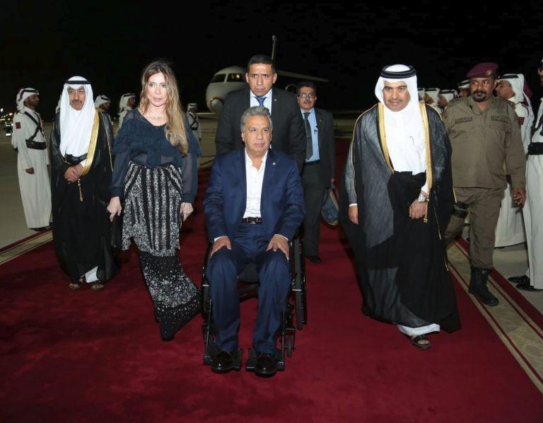 A Moreno lo recibieron autoridades de Catar y la embajadora Ivonne Baki.
