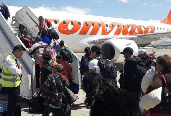 En total serán 284 los venezolanos que viajarán hoy en tres vuelos. Foto: Twitter