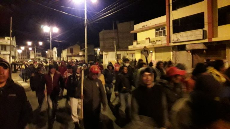 Los indígenas rechazan las medidas económicas como la eliminación del subsidio a los combustibles. Foto: Twitter @CONAIE_Ecuador