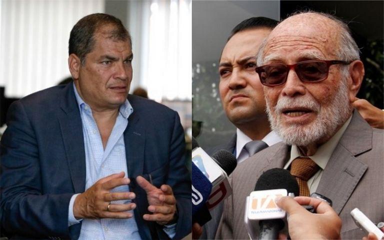 """""""Hemos venido a presentar documentos que justifican nuestra denuncia por el más grande atraco en contra de la economía del país"""", dijo Trujillo. Foto: Collage Vistazo"""