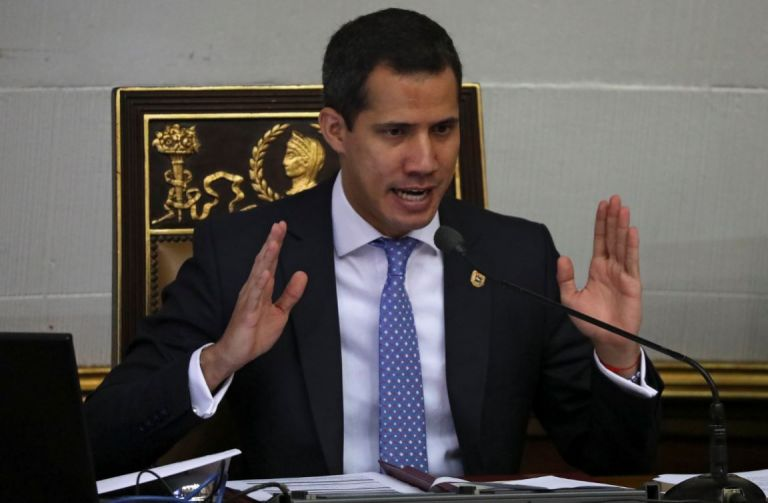 """Guaidó aseguró que """"el 91% de los venezolanos"""" quiere un cambio del gobierno del mandatario Nicolás Maduro """"y eso no escapa a las Fuerzas Armadas"""". Foto: Reuters."""