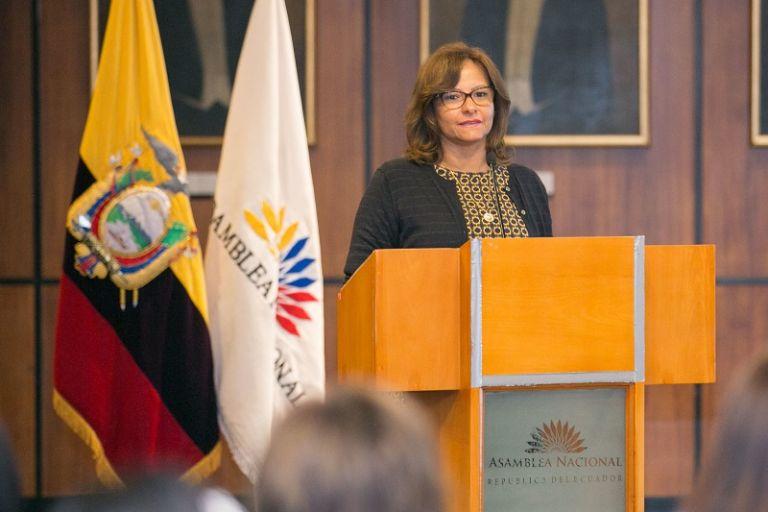 """""""El 7 de marzo de 2019 será recordado como el día en que se evidenció el espionaje"""", dijo Cabezas. Foto: Flickr Asamblea"""