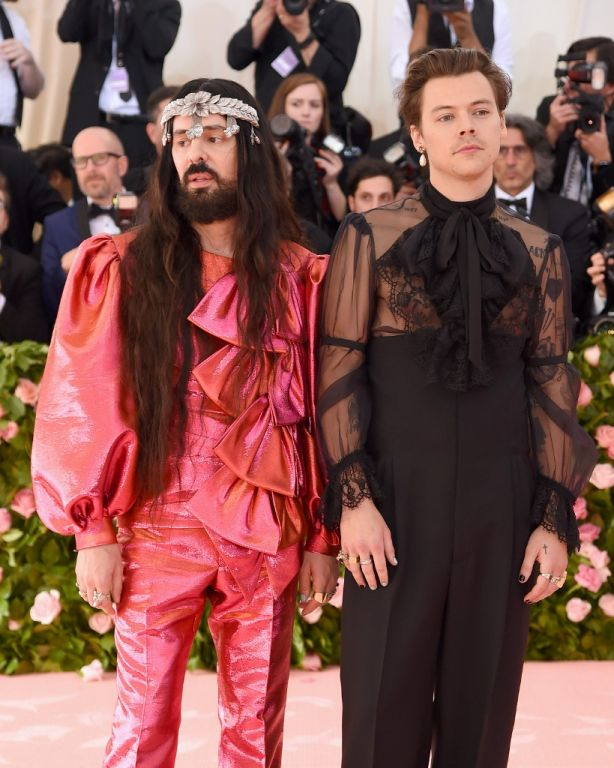 Alessandro Michele y Harry Styles. Foto: AFP