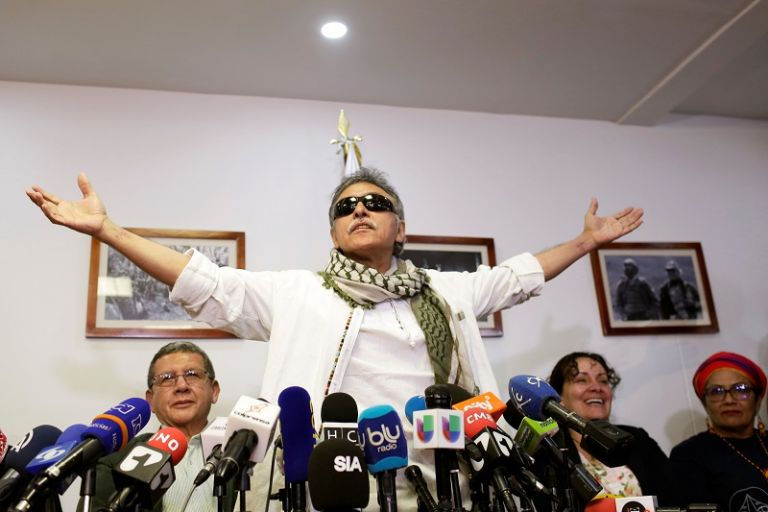 """Este es un """"nuevo paso de lucha y defensa de la paz para Colombia"""", declaró Santrich. Foto: Reuters"""