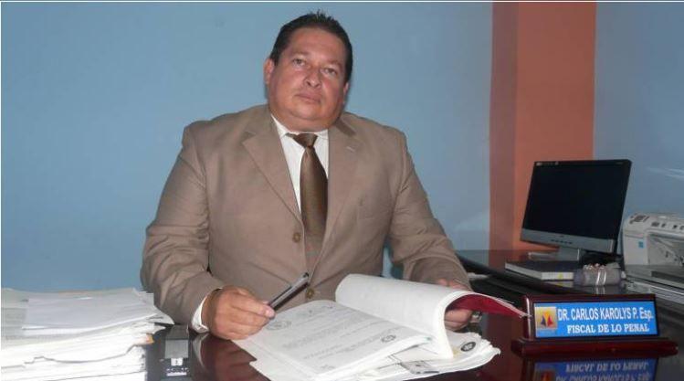 Hace 15 días, Karolys había sido reintegrado como fiscal en Daule.