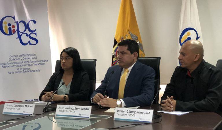 """Según Tuárez, el bloque de CREO lleva adelante esta """"persecución"""" en su contra y de sus compañeros del CPCCS."""