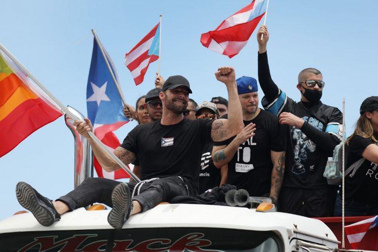 """""""Hemos escrito una página muy importante de la historia. Estamos bien. Puerto Rico, te amo"""", dijo el cantante. Foto: AFP"""
