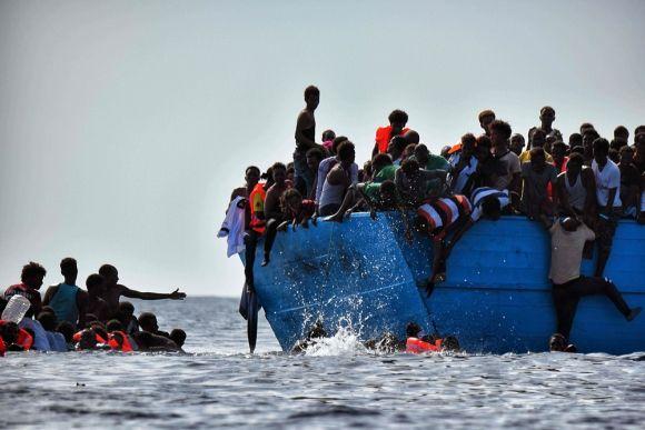 La ruta desde Libia, por el Mediterráneo, hasta llegar a Italia, es una de las más tomadas por los migrantes que intentan llegar a Europa. Foto de archivo de AFP.