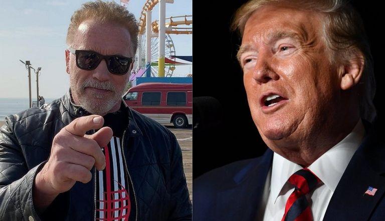 """Schwarzenegger aseguró que cuando coincidía con Trump en tiempos pasados, él """"siempre admiró a las personas con buenos cuerpos"""". Foto: AFP."""