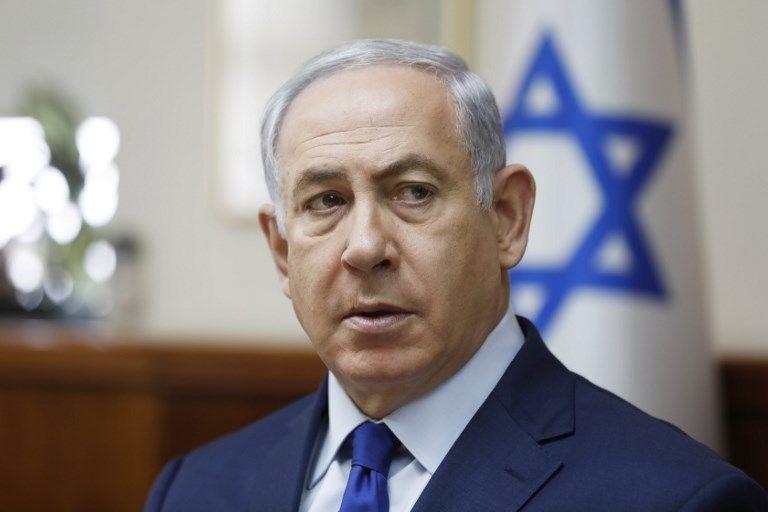 El ministro israelí Benjamín Netanyahu asegura que el mensaje contra los árabes no fue enviado por su equipo. Foto: AFP.